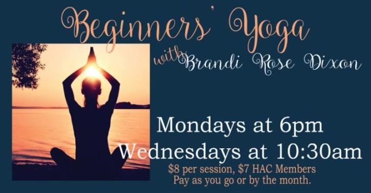 2018 Beginners Yoga at HAC