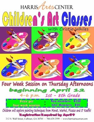 April Art Class Flyer