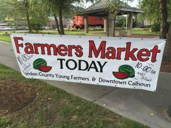 Depot Farmers Market Sign